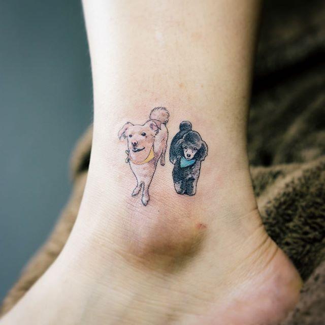 Linda dupla na perna