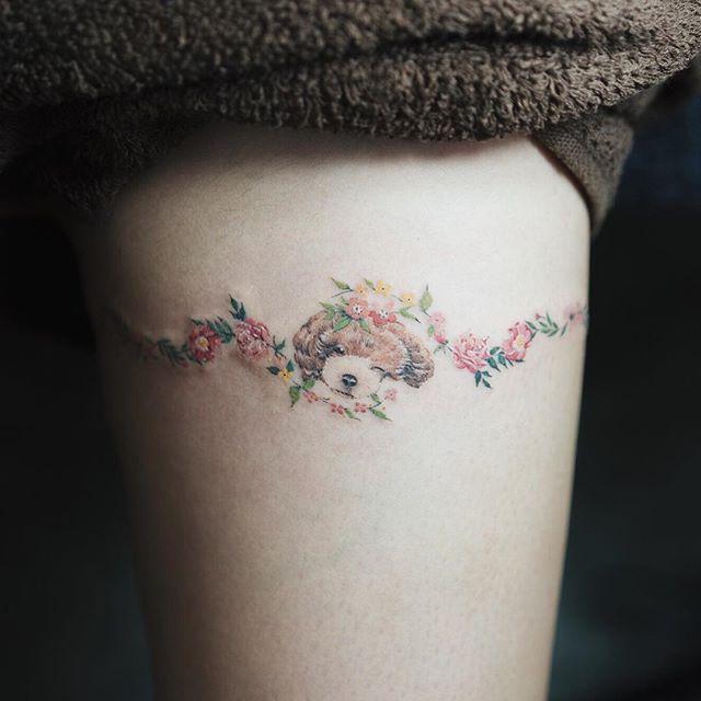 Tatuagem com traços mais leves