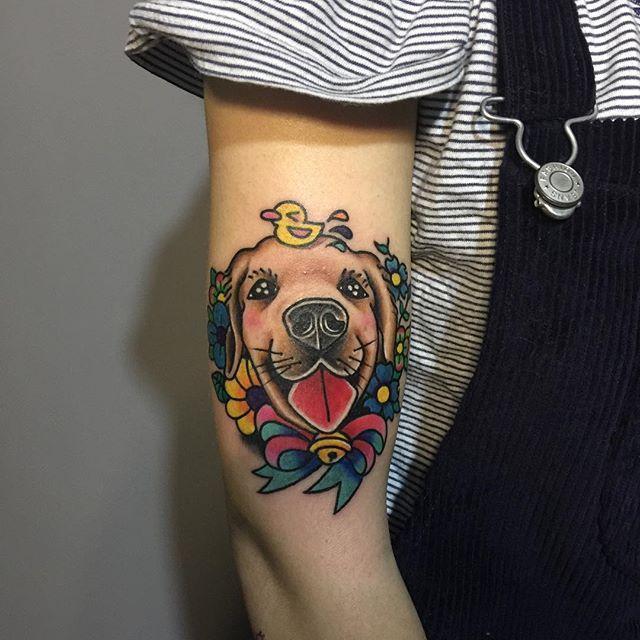 As cores deixam a tatuagem ainda mais divertida!