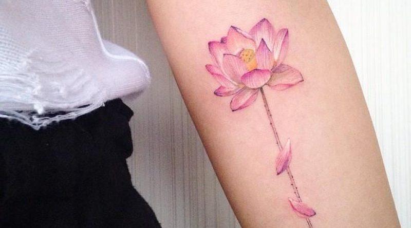 65 tatuagens de flor de lótus para você se inspirar e fazer a tua