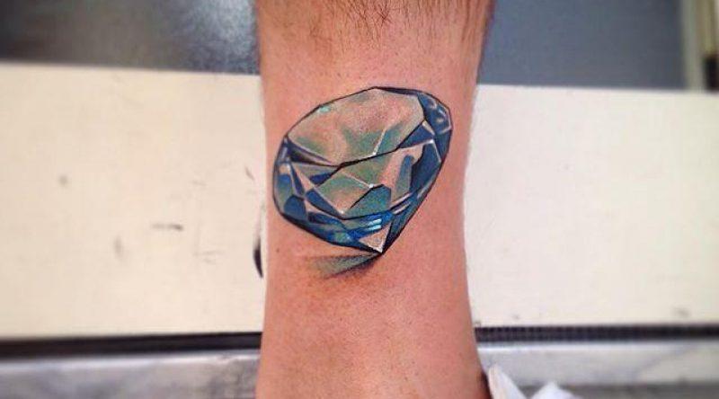 65 tatuagens de diamante para fazer a sua e brilhar por onde for