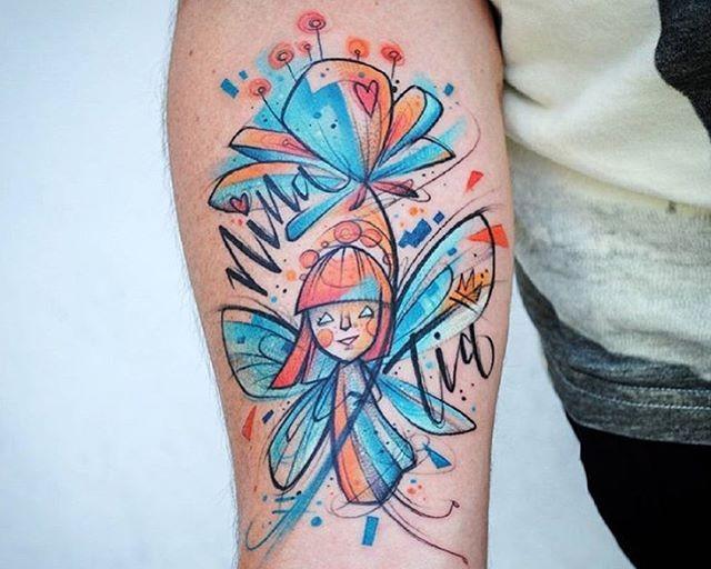 55 Tatuagens de fadas lindas e inspiradoras