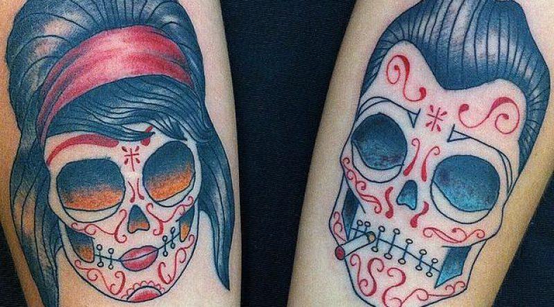 60 tatuagens de caveira mexicana que representam a imortalidade