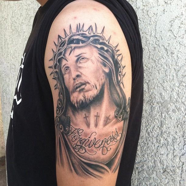 Tatuagem De Jesus Cristo Chorando