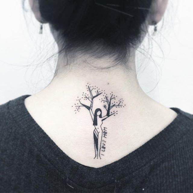 Famosos 65 Tatuagens de Árvores Impressionantes e Inspiradoras CU06