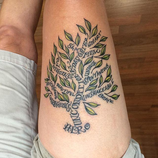 65 Tatuagens De &193rvores Impressionantes E Inspiradoras