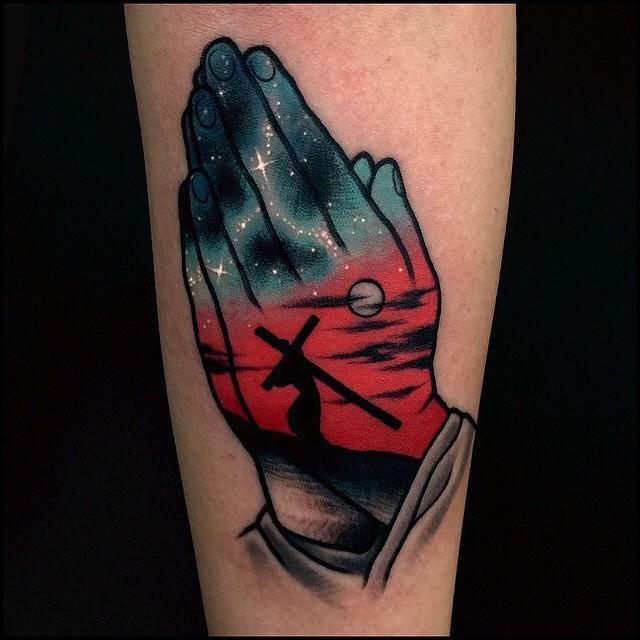 Muitas vezes 70 Tatuagens de Jesus Cristo Impressionantes! NF07