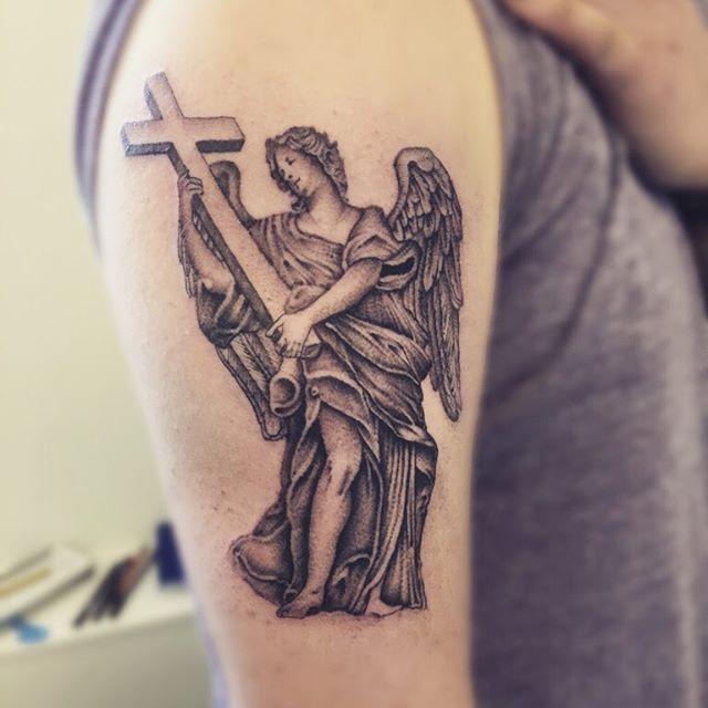 Populares 60 Tatuagens de Anjo Inspiradoras - Melhores Fotos! OA16