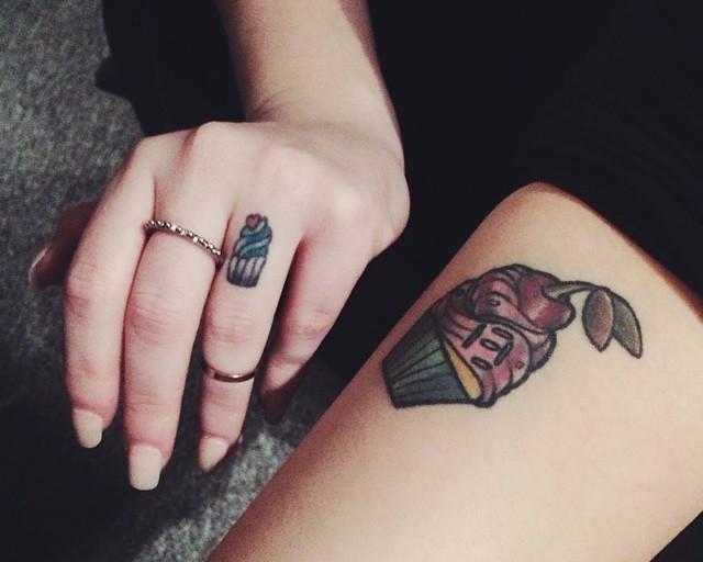 65 Tatuagens de Cupcakes
