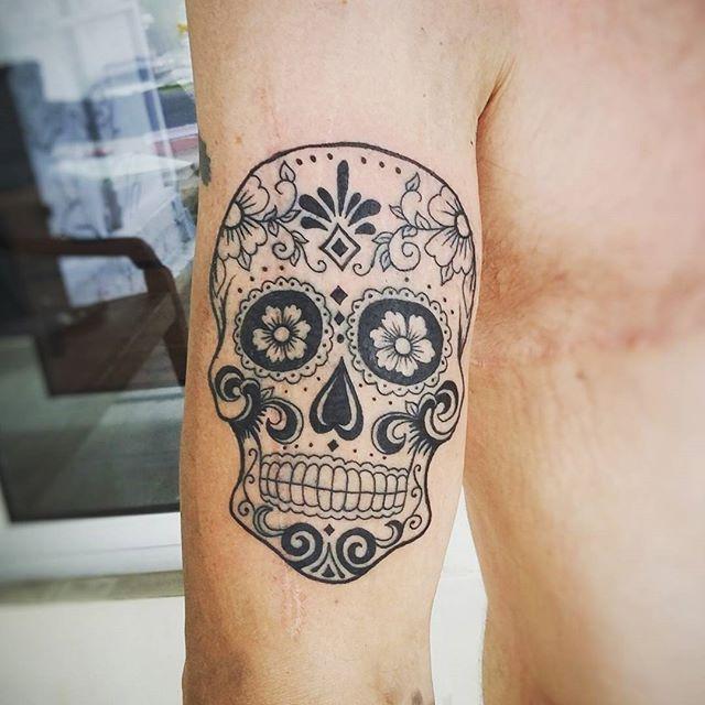 60 tatuagens de caveira mexicana as fotos mais incr veis for Tattoos mexicanos fotos