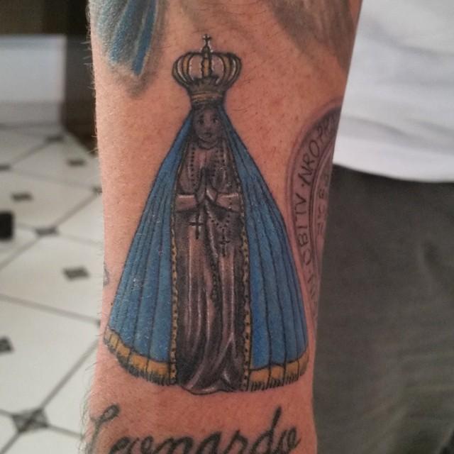 nossa senhora aparecida Tattoo Azul