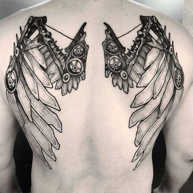 60 Tatuagens De Asas Impressionantes Melhores Fotos