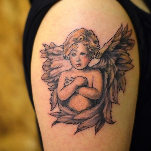 Populares 60 Tatuagens de Anjo Inspiradoras - Melhores Fotos! XL76