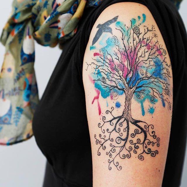 Excepcional 65 Tatuagens de Árvores Impressionantes e Inspiradoras KR69