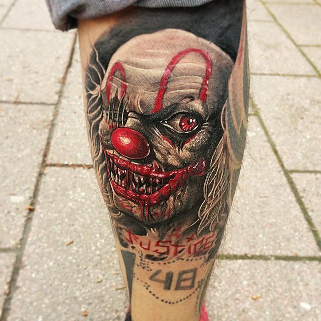 d6d31d36dd37e 65 Tatuagens de Palhaços Impressionantes