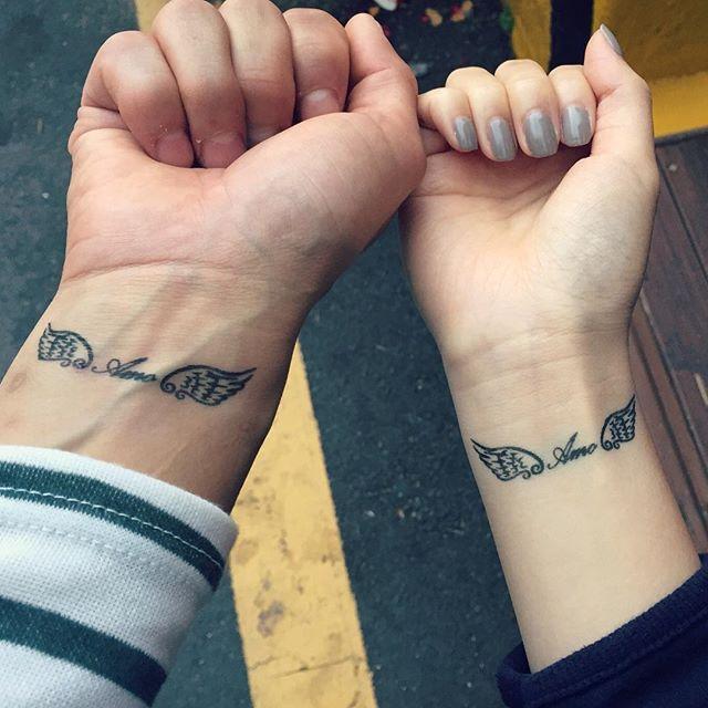 tatuagem para casal delicada no pulso