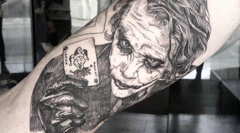 60 tatuagens do Coringa que simbolizam a desordem e a obscuridade