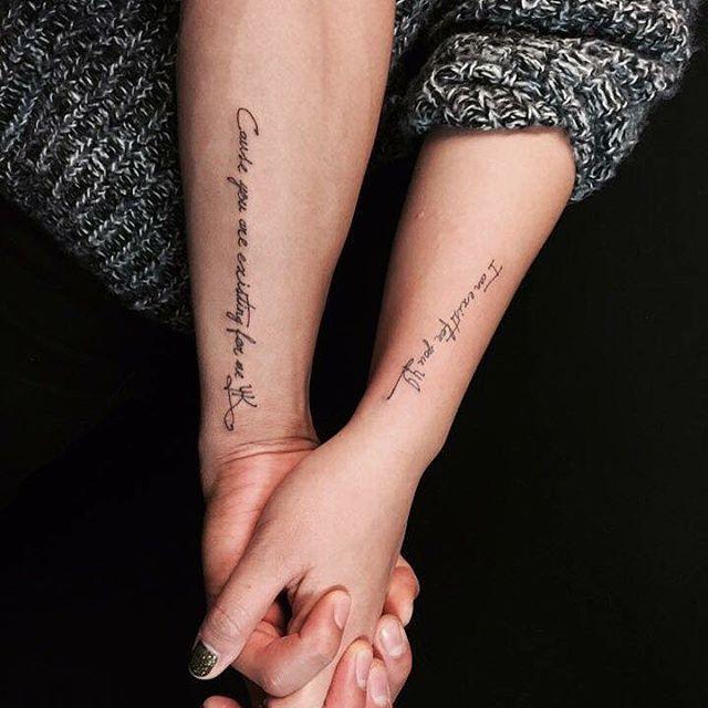 Eu existo por você porque você existe pra mim!