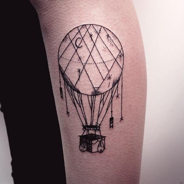 70 Tatuagens De Balões Lindas E Criativas