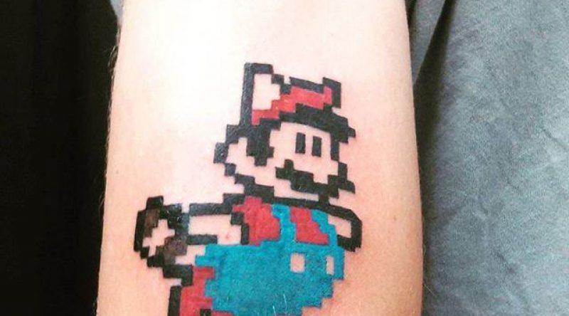 70 tatuagens do Super Mario Bros para os fãs de videogames