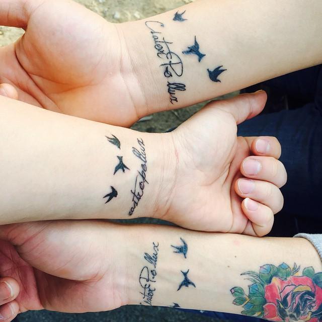 Três amigas, três pássaros livres, leves e soltos