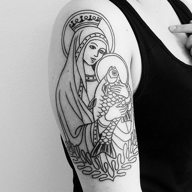 65 Tatuagens Da Virgem Maria Lindas E Inspiradoras