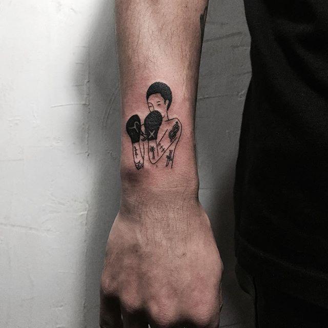 tatuagens pequenas Para Homem Boxing