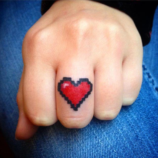 Coração pixelado