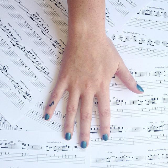 A música é a sua vida? Escolha uma nota musical!