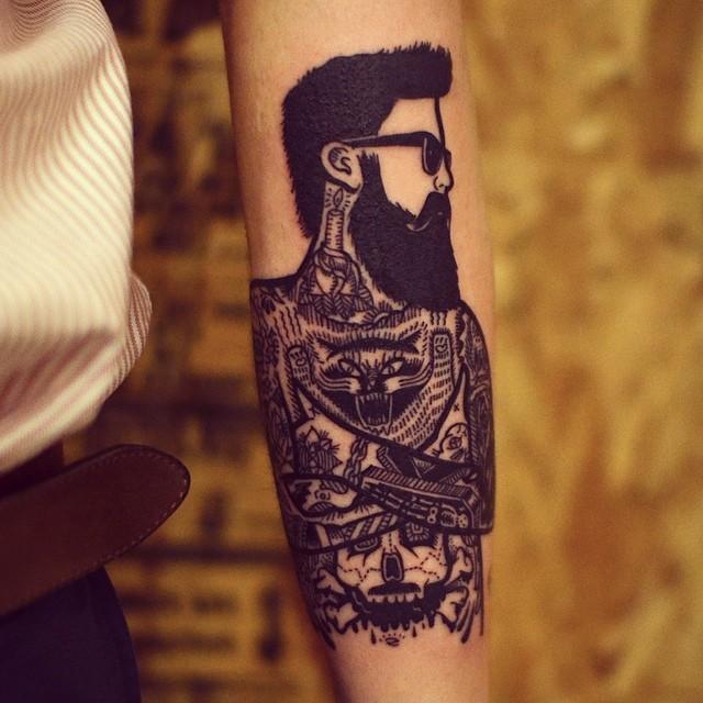 Tatuagens no Braço Uma Pessoa