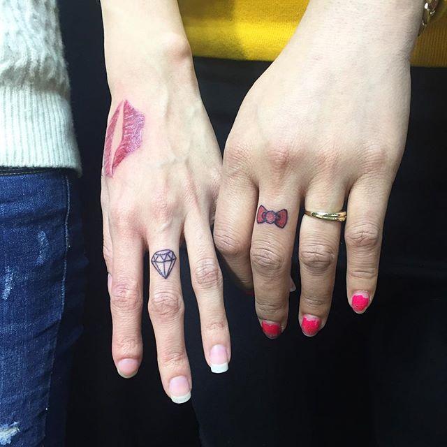 O diamante e laço estão entre os desenhos prediletos das mulheres