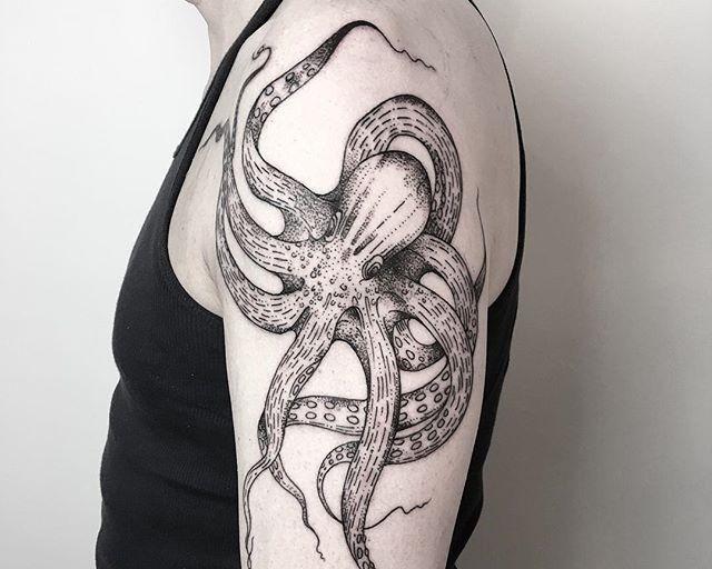 60 Tatuagens de Polvo Impressionantes – Fotos