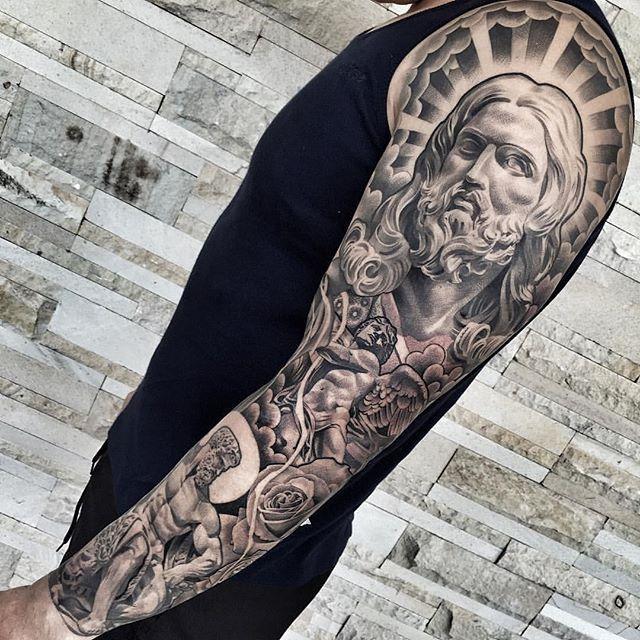 80 tatuagens religiosas incr veis melhores fotos. Black Bedroom Furniture Sets. Home Design Ideas
