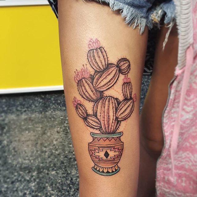 Conhecendo sua força interior, isso que significa uma linda tatuagem de Cacto
