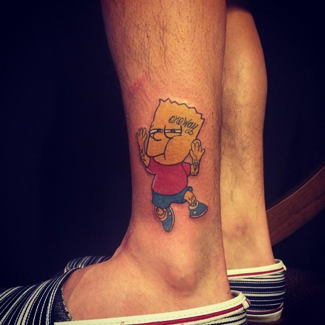 Bart Simpson do desenhos Os Simpsons