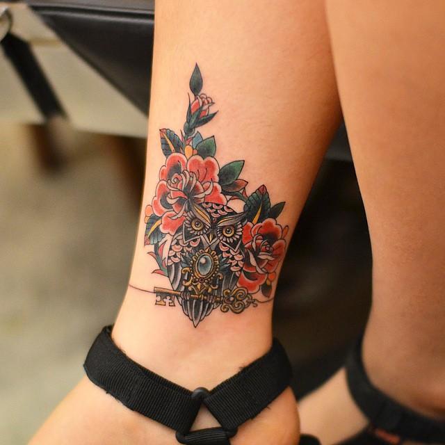 Símbolo da sabedoria e educação, a coruja está entre as tatuagens mais feitas