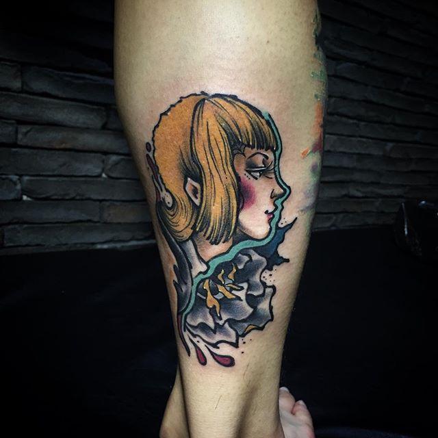Mostre seu amor pelos Elfos e Fadas que são seres mágicos da mitologia germânica utilizando o estilo de tatuagem bold-line