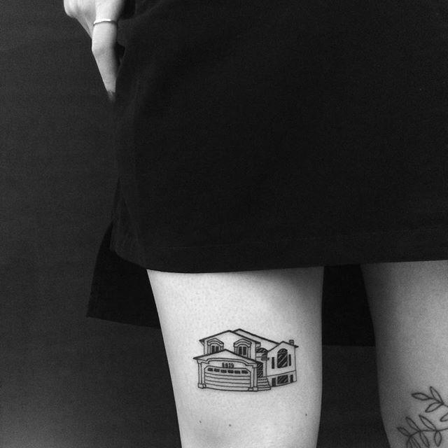 A sua casa também pode virar tatuagem. A arte é livre!
