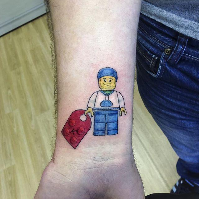 Tatuagem Lego old school