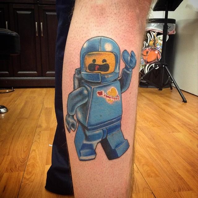 Boneco de Lego astronauta.