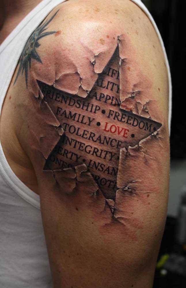 Que tatuagem chocante e ao mesmo tempo super sensível.