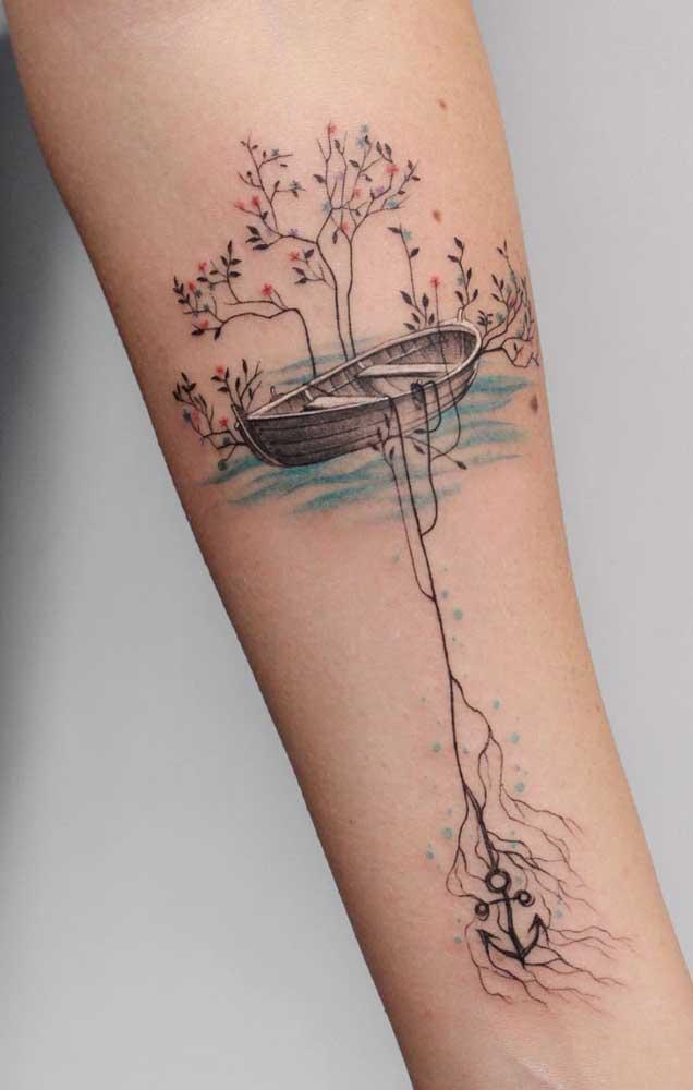 Com a tatuagem 3D você pode deixar o desenho escolhido mais próximo da realidade.