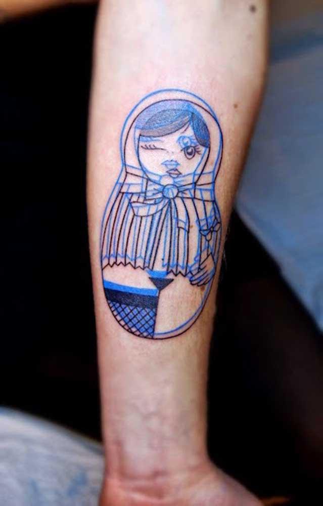 Dependendo da tatuagem 3D, o efeito que provoca é uma mistura de imagens.