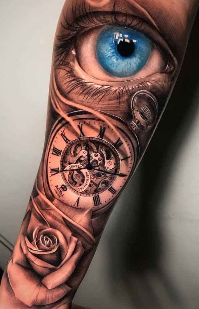 Quer uma tatuagem mais real do que essa? Isso só é possível com a tattoo 3D que trabalha com o efeito tridimensional.
