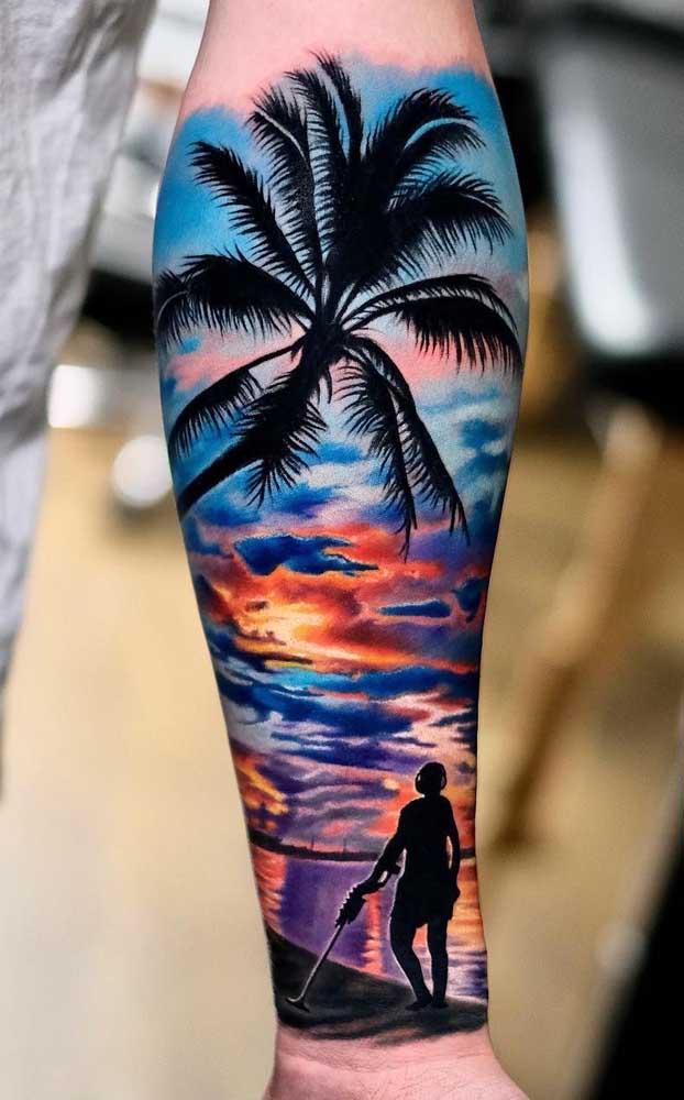 O paraíso é logo ali na sua tatuagem 3D.