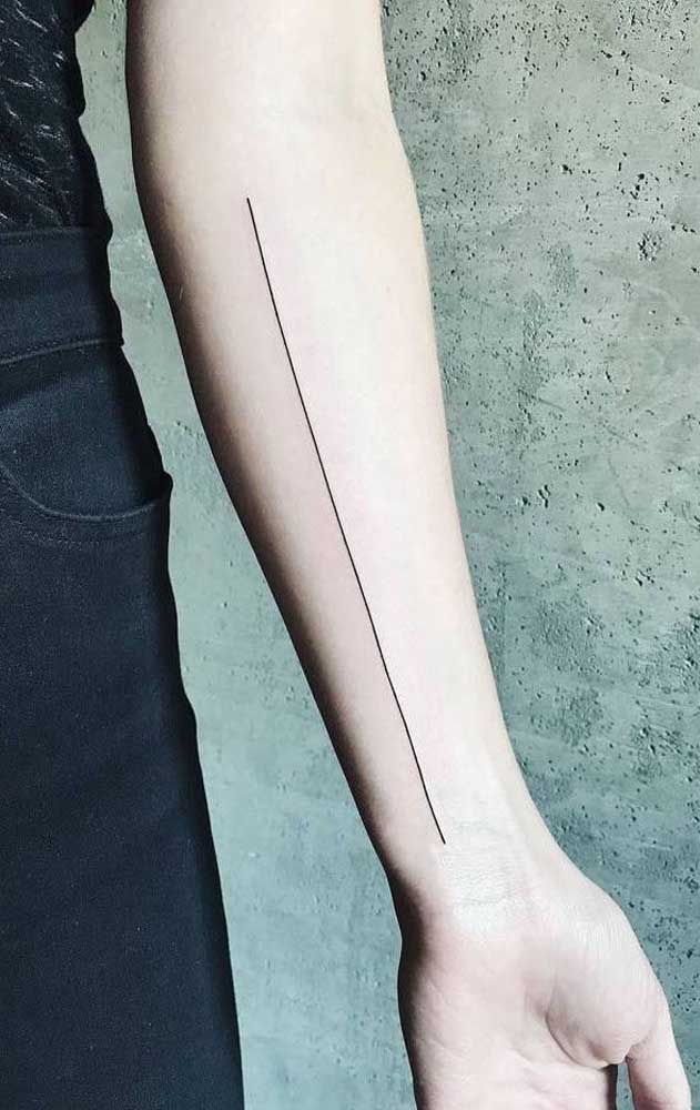 Quer tatuagem mais simples do que essa?