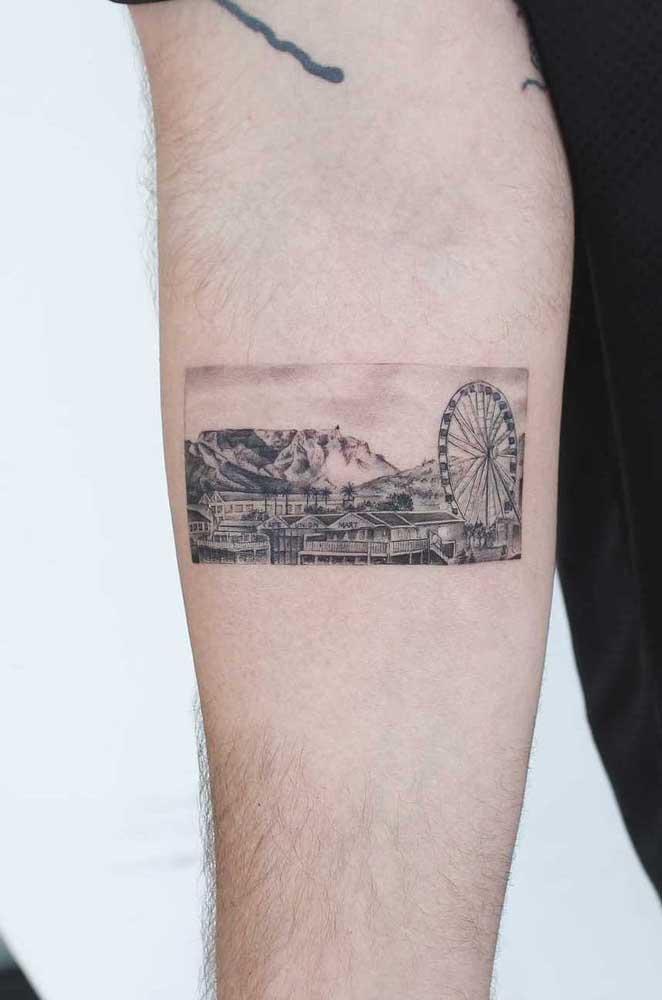 Como é linda a tatuagem no formato de fotografia, não é mesmo?