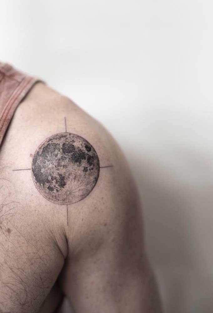 Ou quem sabe desenhar o planeta no seu ombro?