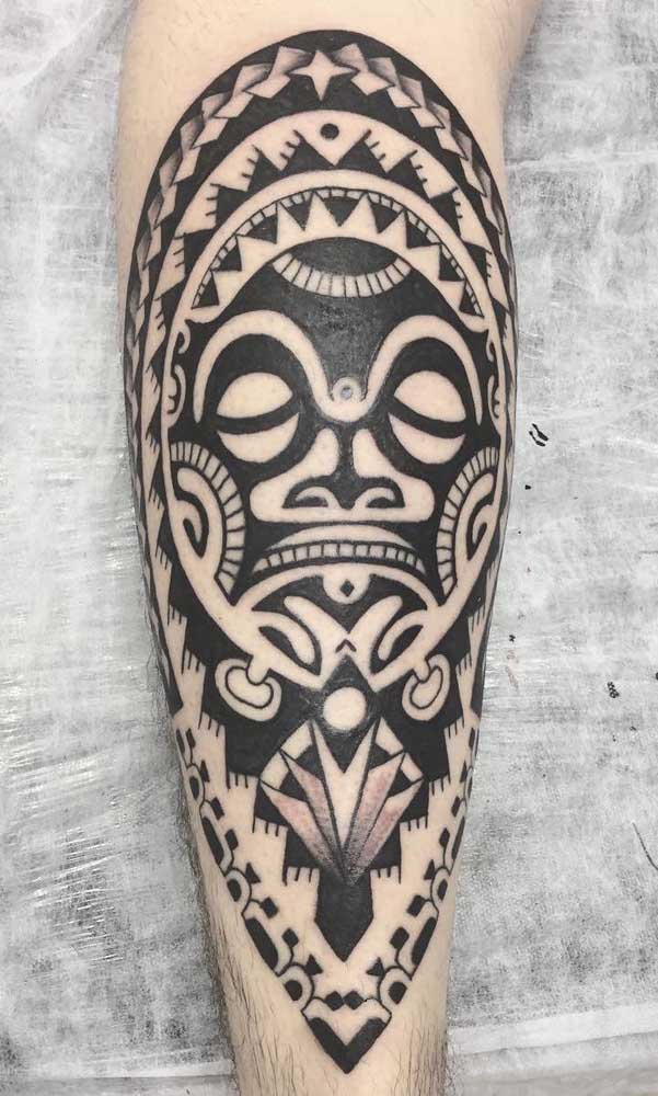 O Tiki Mana é um dos deuses do Maori que mais é usado nos desenhos de tatuagem.