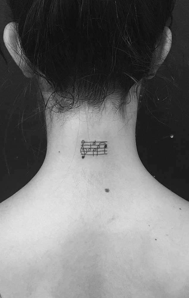 Que tal marcar para sempre no seu corpo aquela nota musical que tanto ama?